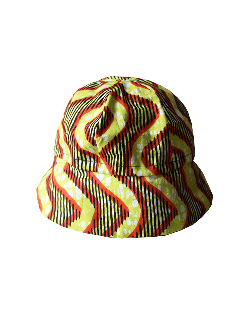 chapeau bob en wax pour bébé et enfant Le Noeud Kipé