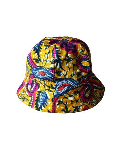 chapeau bob en wax pagne africain pour bébé et enfant