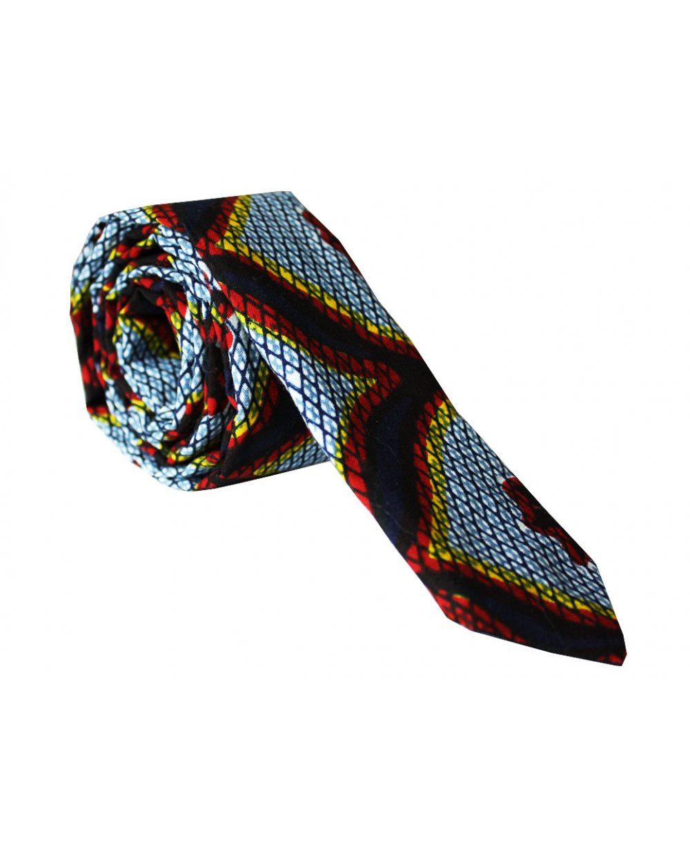 Cravate en wax | cravate en tissu pagne africain |Le Noeud Kipé