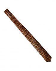 Cravate en wax marron écailles | Le Noeud Kipé