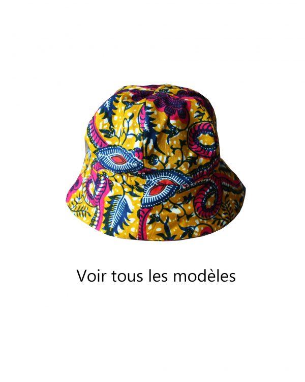 chapeau bob en wax pour bébés et jeunes enfants