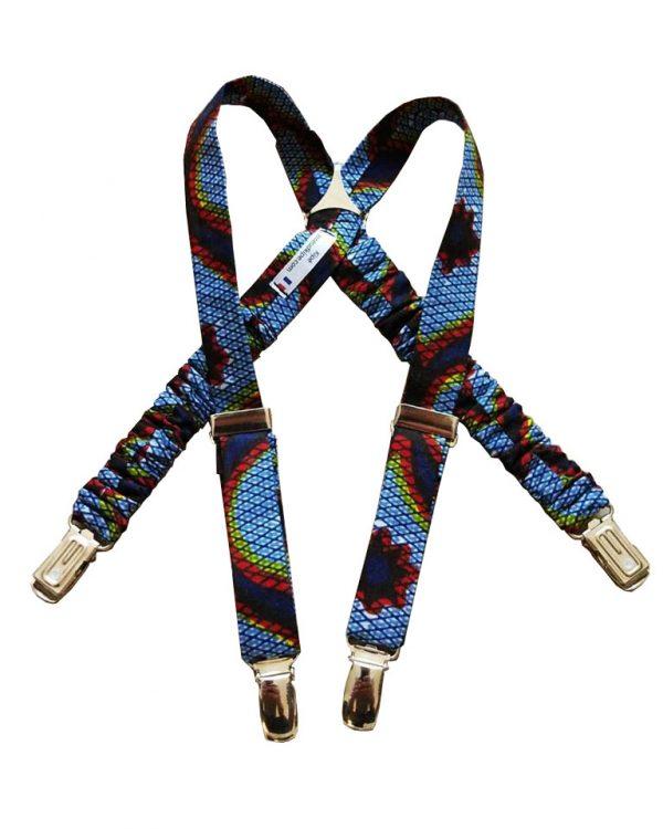 Bretelles enfant en wax (tissu africain) - Le Noeud Kipé
