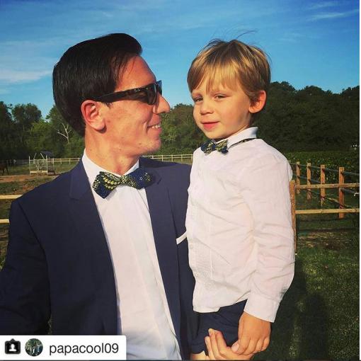 mariage père et fils accessoires le noeud Kipé