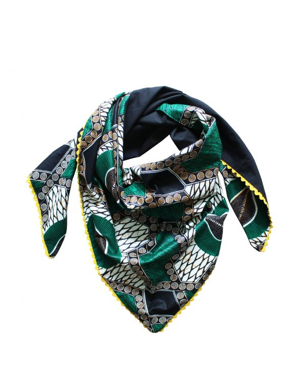 Le Noeud Kipé - Accessoires Wax Tissu africain - Cheche Café Baoulé