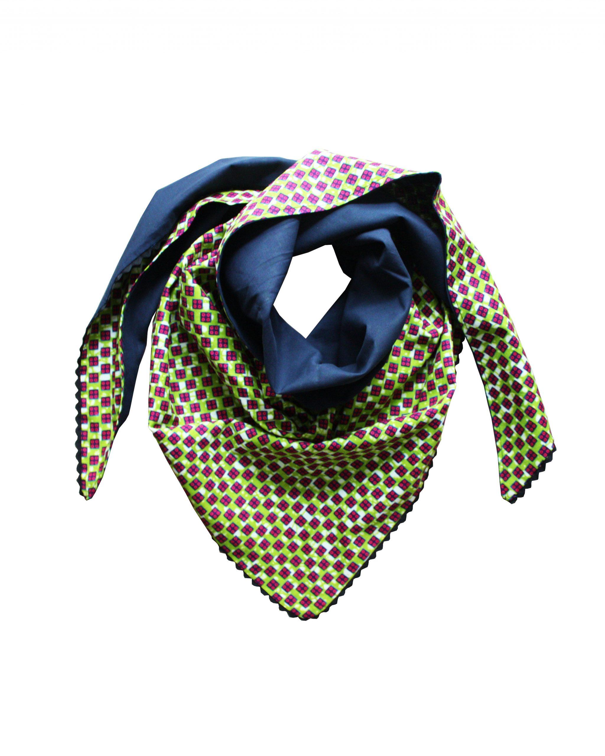 Le Noeud Kipé - Accessoires Wax Tissu africain - Cheche Ludo Vert