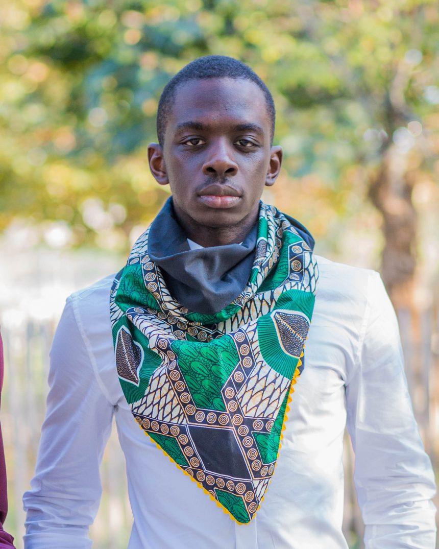Shooting Le Noeud Kipé - Accessoires Wax Tissu africain - Cheche Café Baoulé